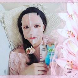 Maseczka ze śluzu ślimaka. Snail Regenerating Facial Mask, 2-step skin treatment program. - regenerating serum - snail facial mask