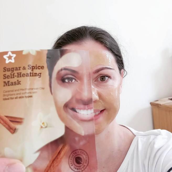 Superdrug Sugar & Spice Self-Heating Mask