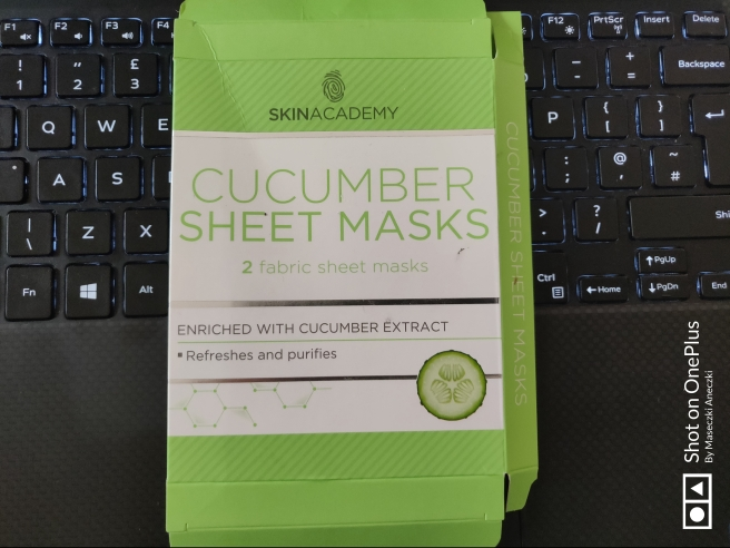 Skin Academy Cucumber Sheet Mask