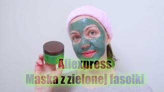 aliexpress maseczka z zielonej fasolki_Moment1